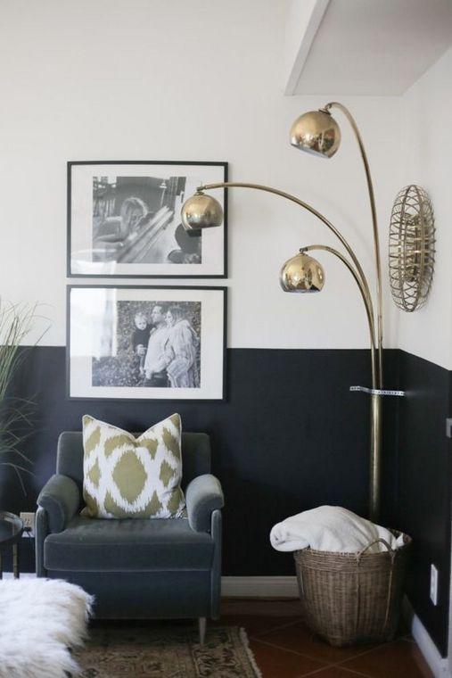 vloerlamp woonkamer goud