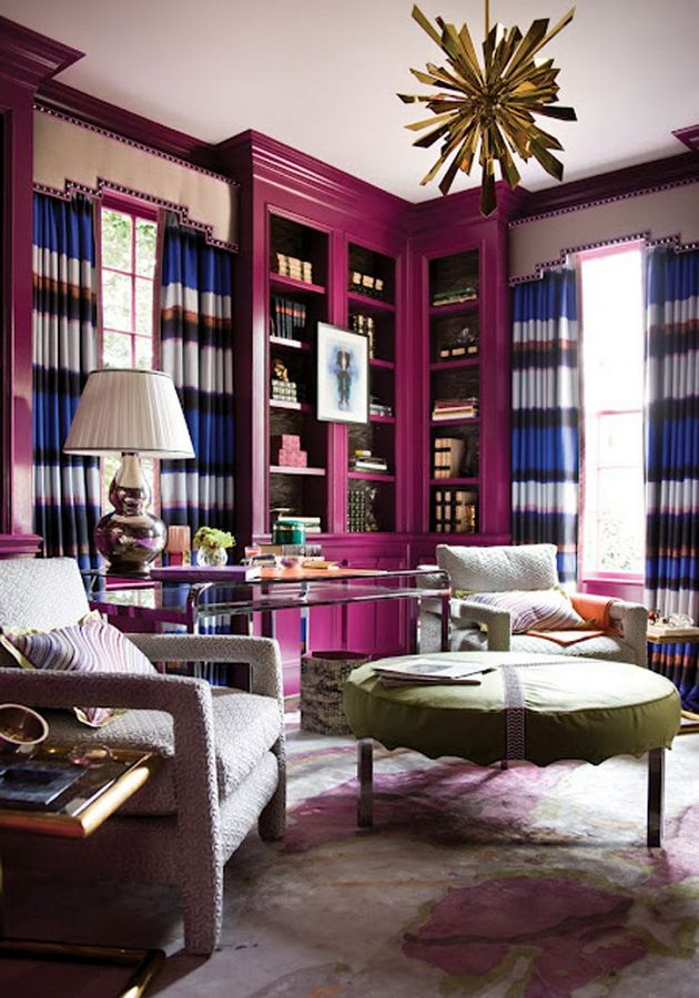 37+ Top Jewel Toned Living Room and Library Choices