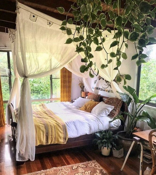 39+ Life, Death, and Plants in Moody Bedroom
